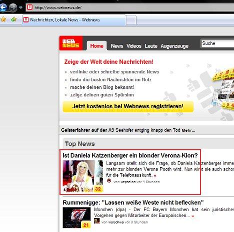 propromis.de bei Webnews auf Platz 1