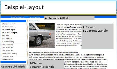 AdSense Beispiel-Layout